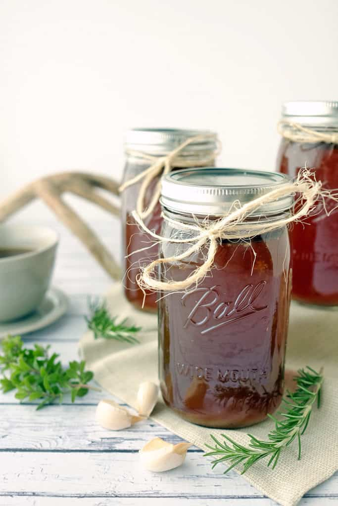 Where to buy bone broth. Bone broth in mason jars.