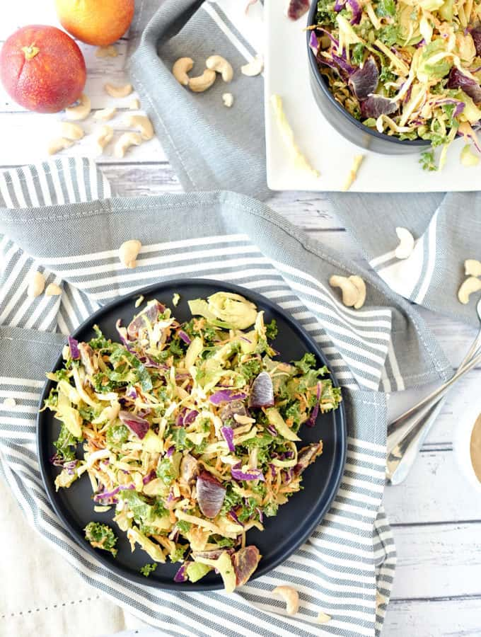 Cabbage Salad with Creamy Cashew Dressing