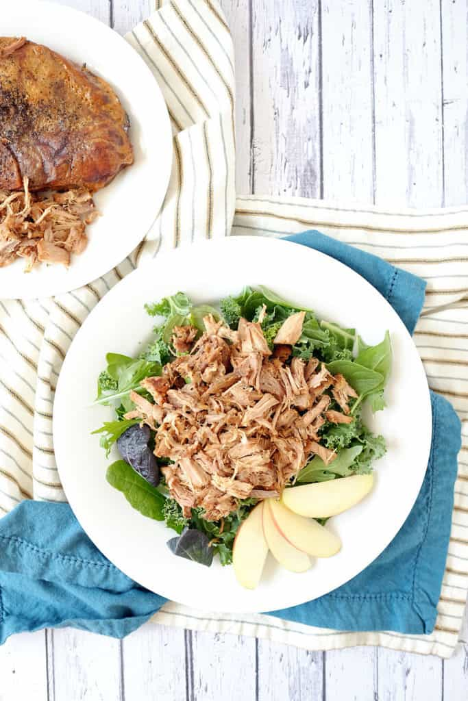 Crockpot honey balsamic pork chops two
