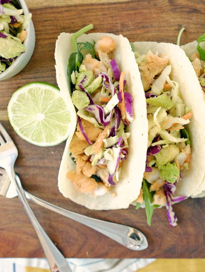Paleo Fish Tacos and Coleslaw (GF + Dairy-Free)