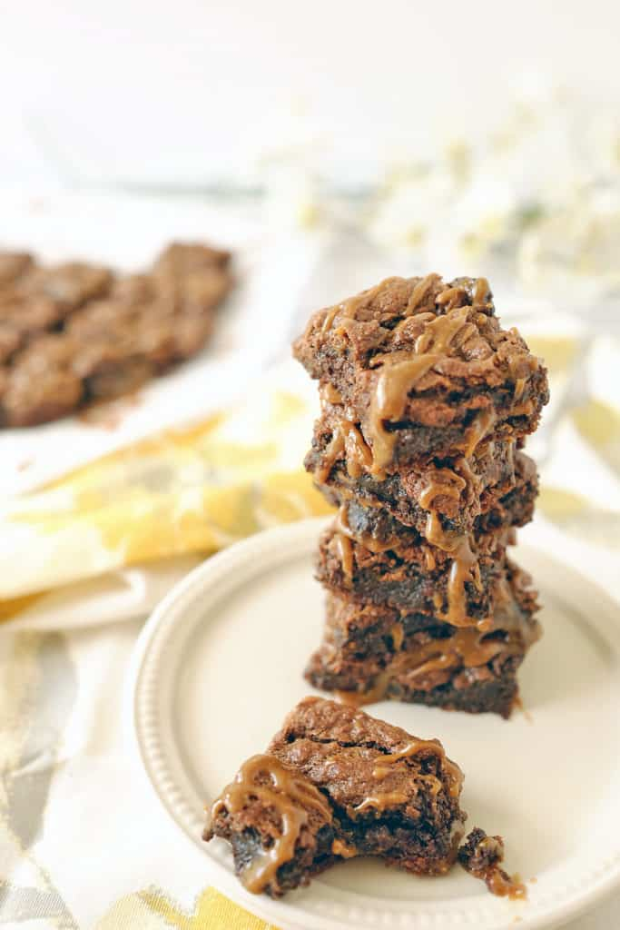Salted caramel double chocolate brownies