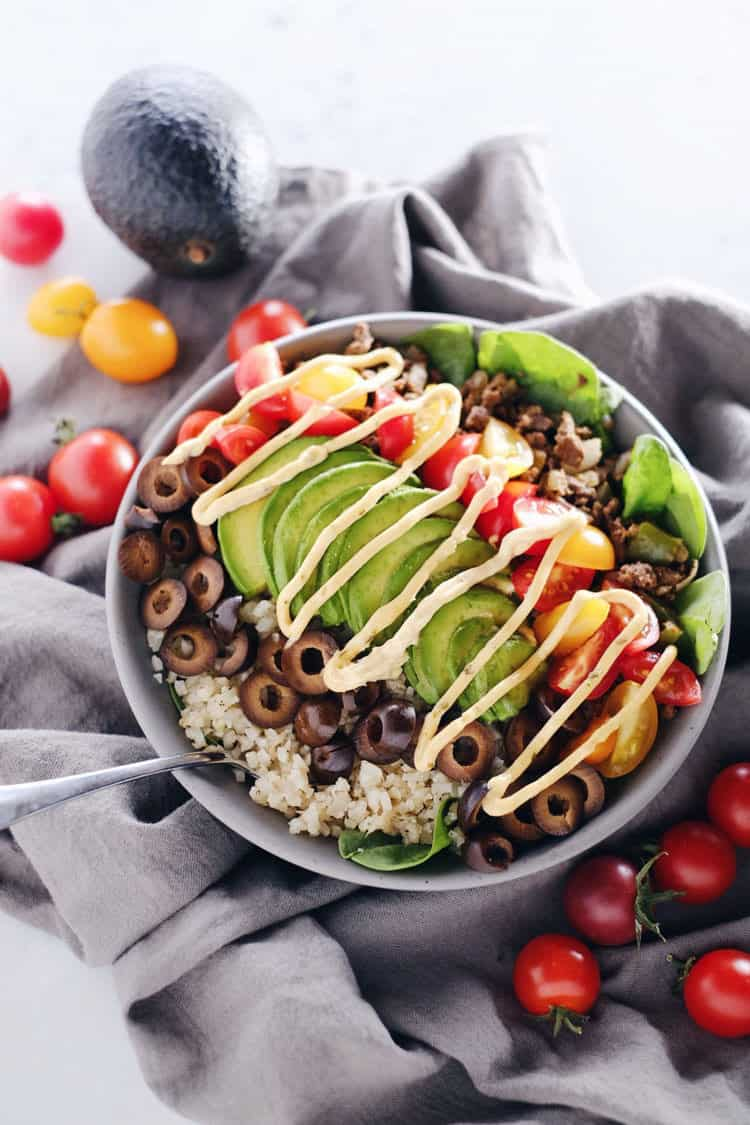 Ground Beef Taco Bowl Recipe Paleo Whole30 Gf