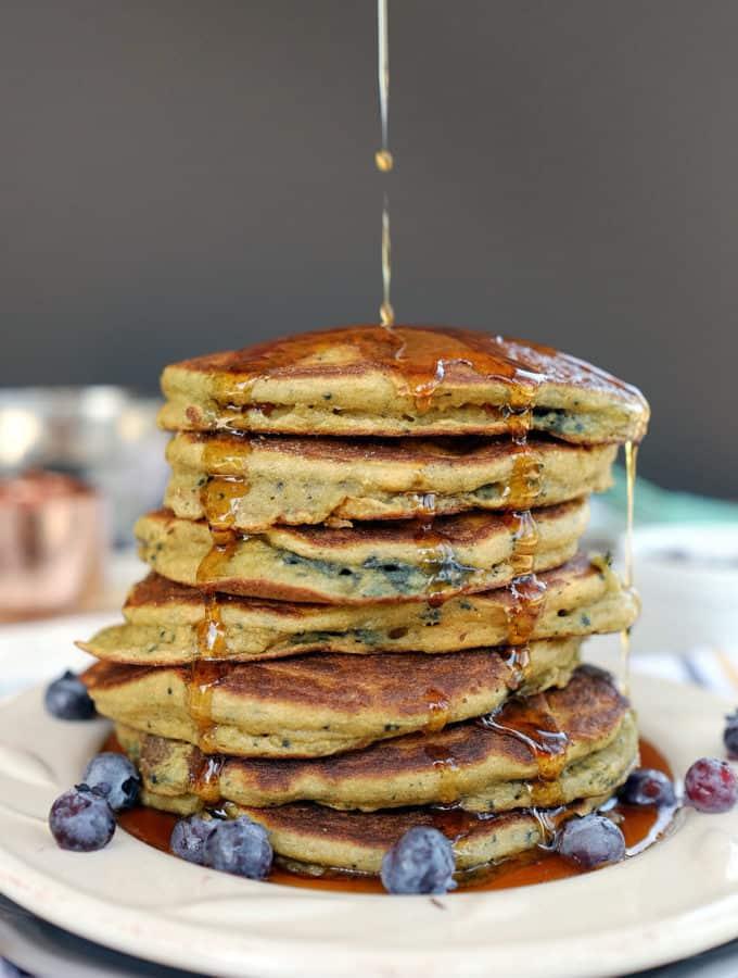 Paleo Blueberry Pancakes (GF, Dairy-Free + Refined Sugar-Free)