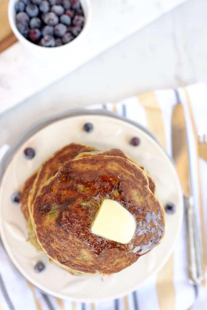 Paleo blueberry pancakes two
