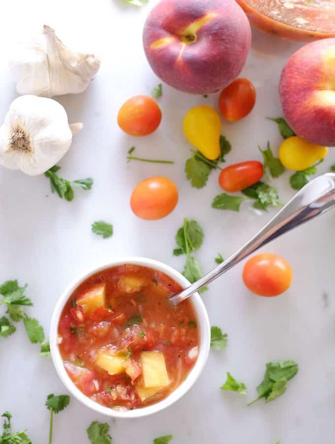 Peach Salsa (Paleo, Whole30 + Refined Sugar-Free)