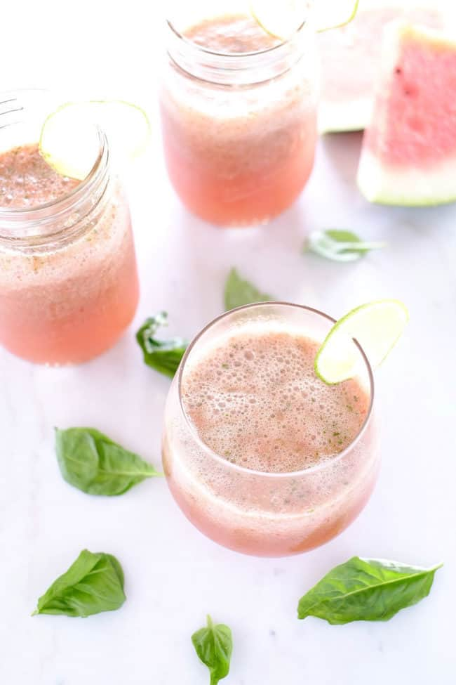 Strawberry basil watermelon agua fresca