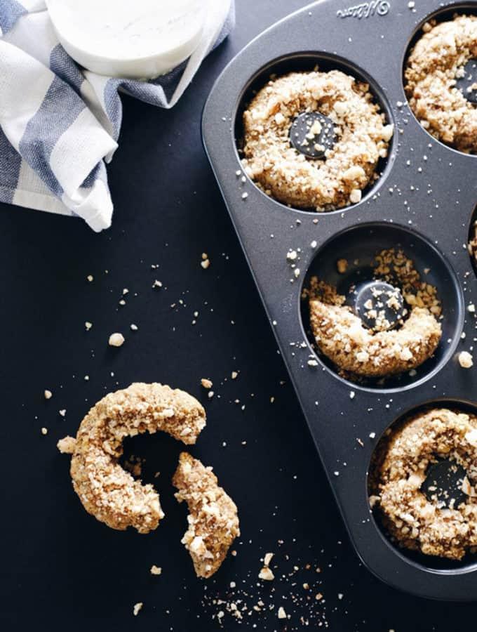Paleo Cinnamon Crumble Donuts (GF, Dairy-Free + Refined Sugar-Free)