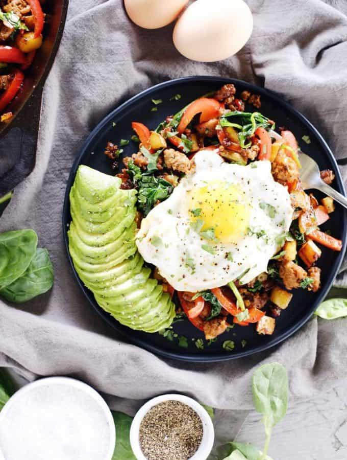 Chorizo Breakfast Hash (Paleo, GF + Dairy-Free)