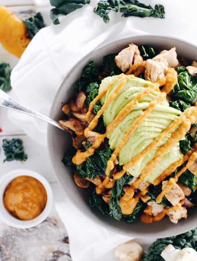 Paleo Chicken Bowl (Whole30, GF + Dairy-Free)