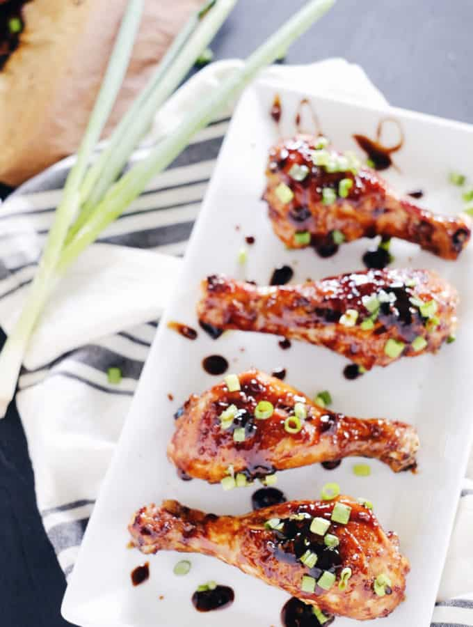 Balsamic Glazed Chicken Drumsticks (Paleo + GF)