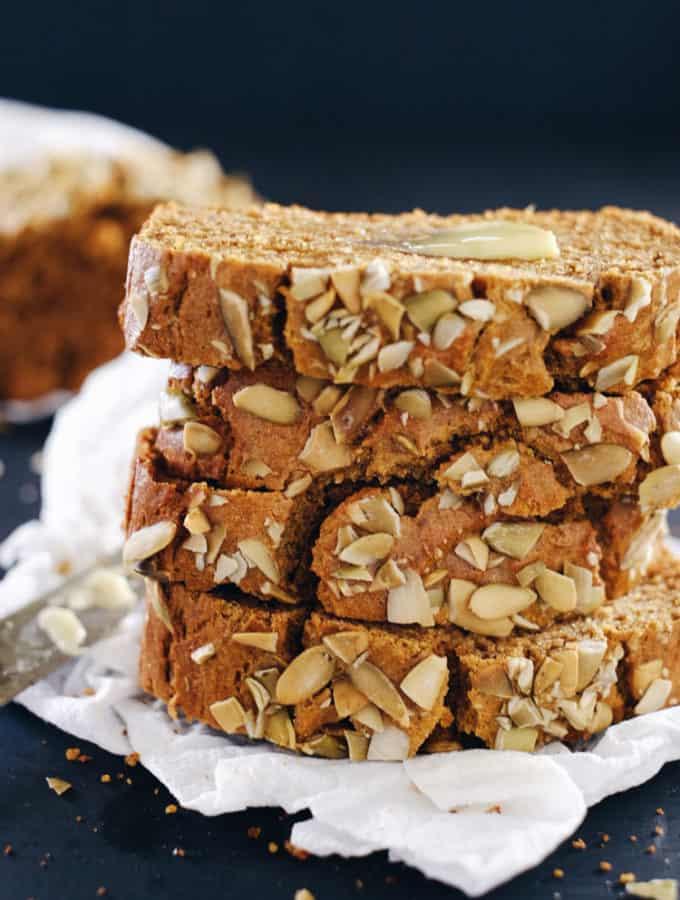 Paleo Pumpkin Bread (GF, Nut-Free, Dairy-Free + Refined Sugar-Free)