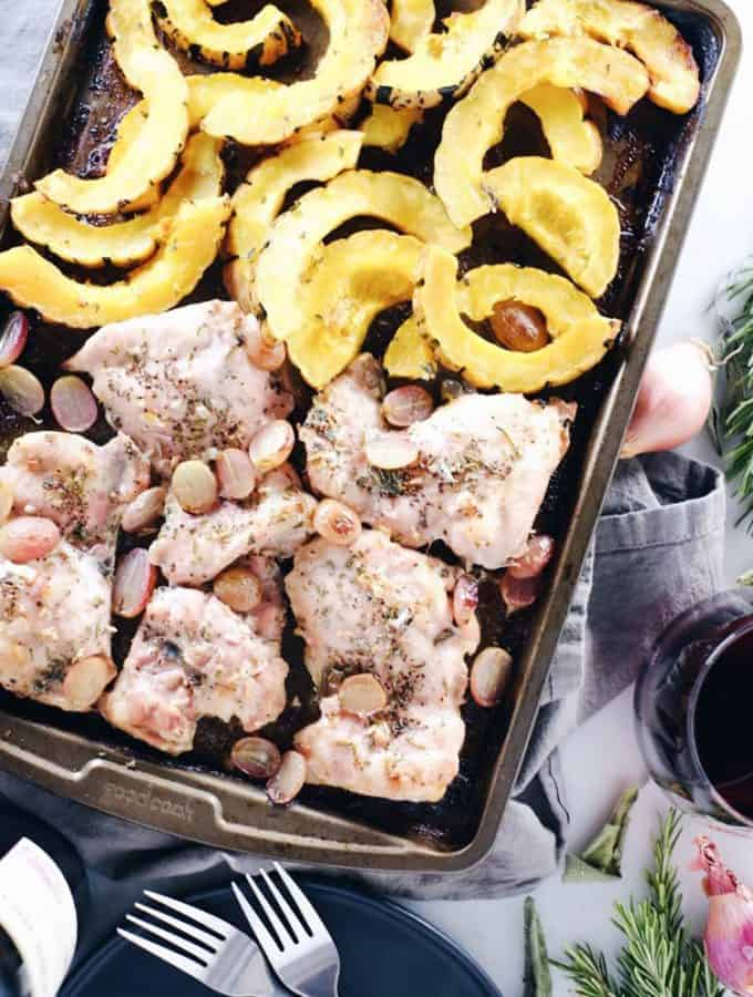 Sheet Pan Chicken and Squash Dinner (Paleo, Whole30 + GF)