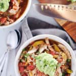 Crockpot Chicken Enchilada Soup (Paleo, Whole30 + Dairy-Free)