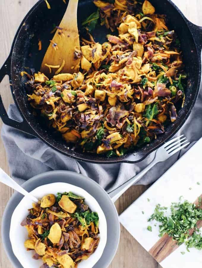 One Pan Turmeric Chicken Skillet (Paleo, Whole30 + Dairy-Free)