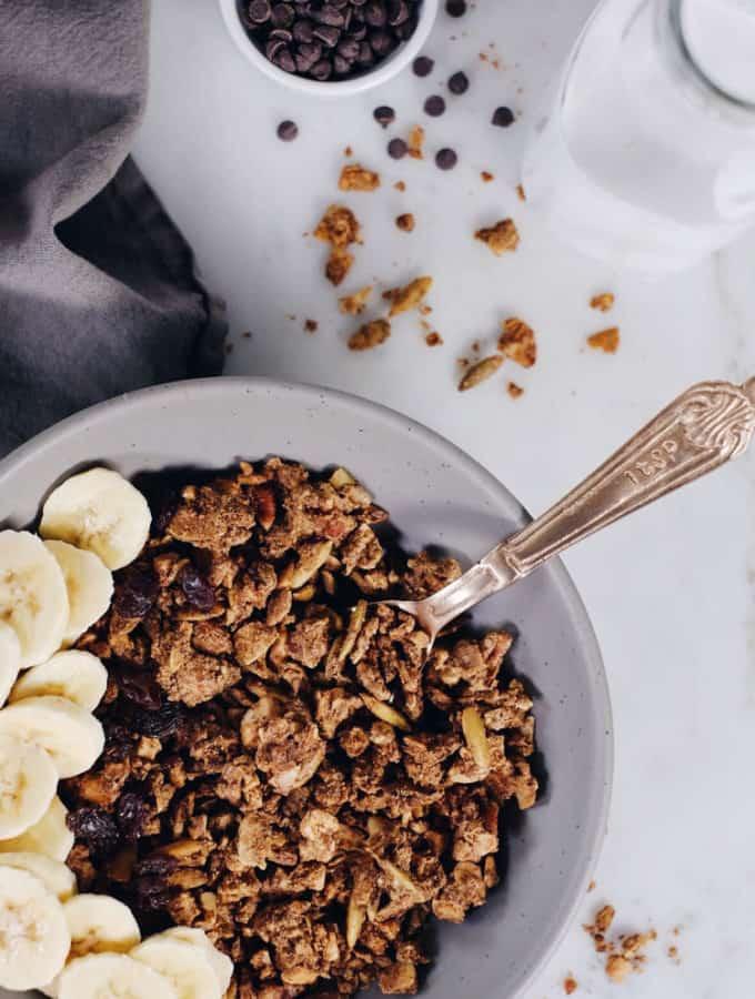 Paleo Cinnamon Spiced Granola (Gluten-Free, Grain-Free + Refined Sugar-Free)