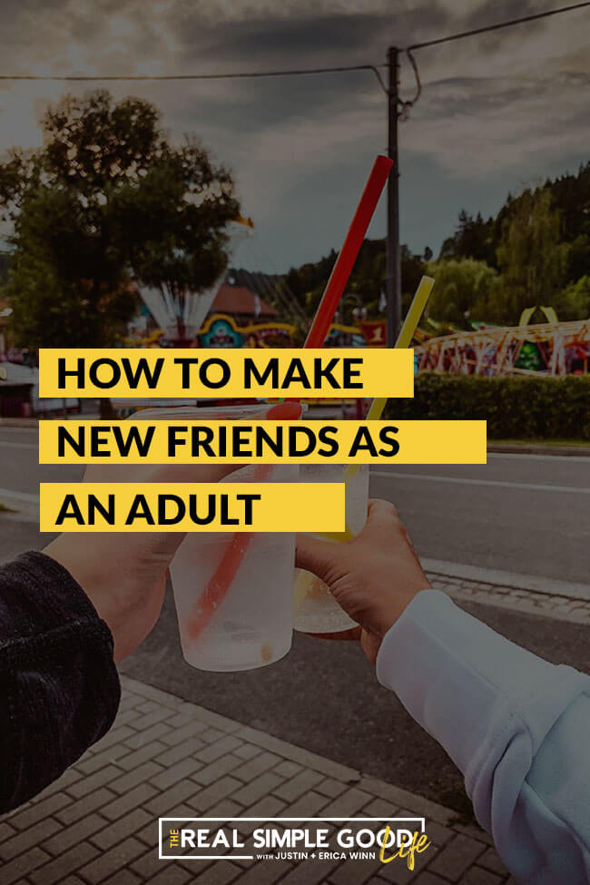 Image of two hands and drinks with text overlay - 5 tips: how to make new friends as an adult