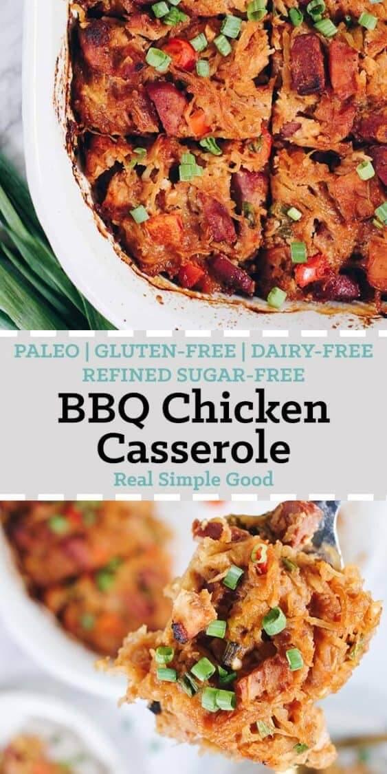 Bbq Chicken Casserole Paleo Gf Dairy Free Refined Sugar Free