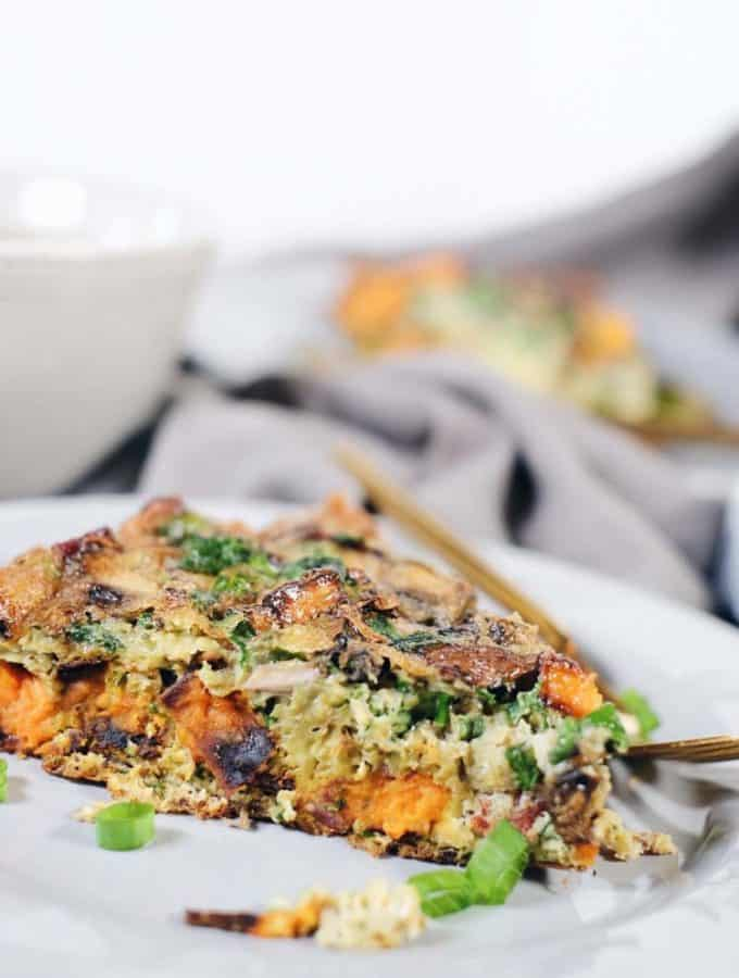 Bacon Sweet Potato Frittata (Paleo + Whole30)
