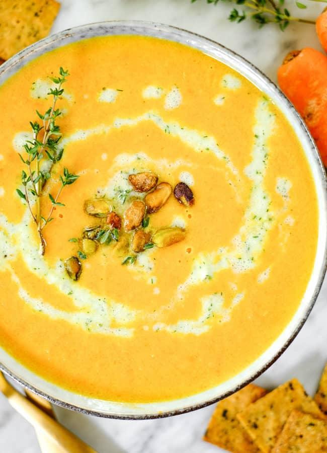 Carrot Ginger Soup (Vegan, Paleo + Whole30) Instant Pot