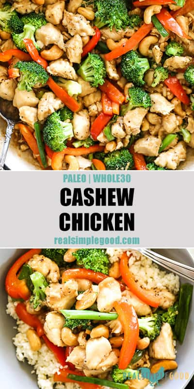 Healthy Cashew Chicken (Paleo + Whole30)