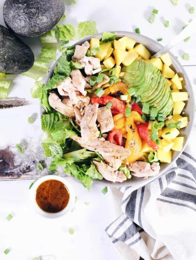 Chili Lime Chicken Salad (Paleo, GF, Dairy-Free + Refined Sugar-Free)