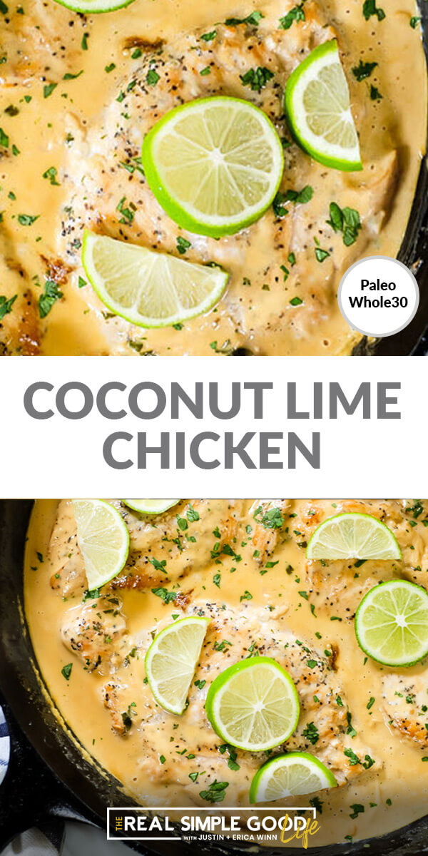 Coconut Lime Chicken (Paleo, Whole30 + Keto)