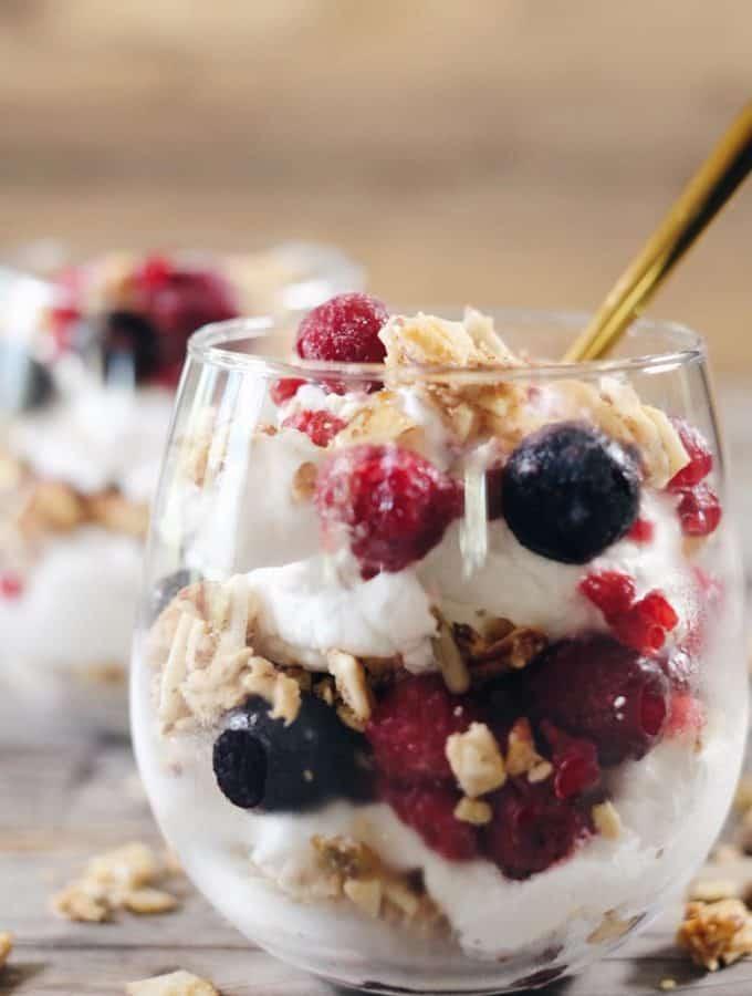 Creamy Breakfast Parfait (Paleo, GF, Dairy-Free + Refined Sugar-Free)