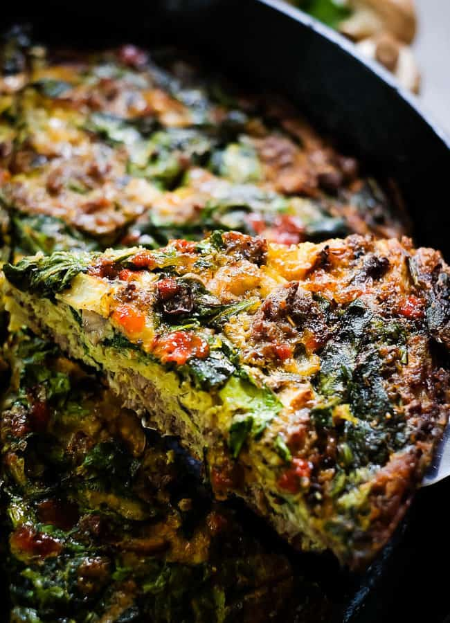 Crustless Spinach Quiche (Paleo + Whole30)