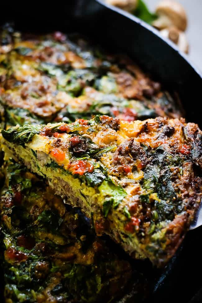 Crustless Spinach Quiche Paleo Whole30 Keto The Real Simple Good Life