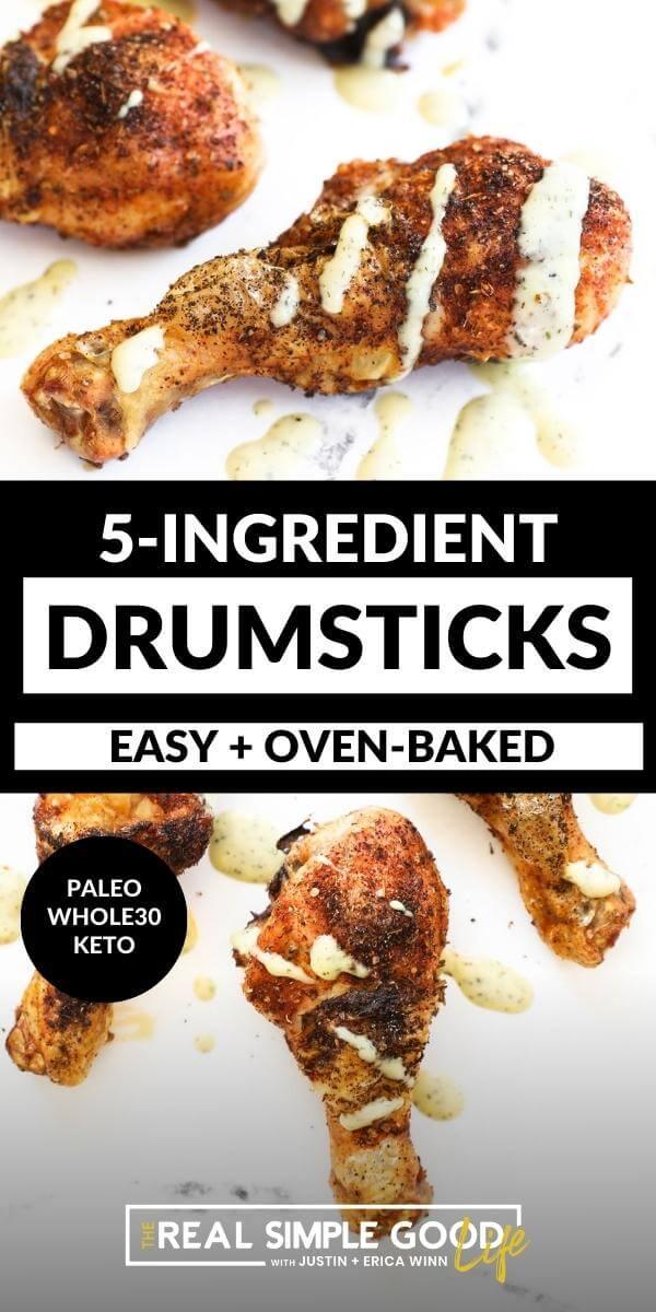 Easy 5-Ingredient Baked Chicken Drumsticks
