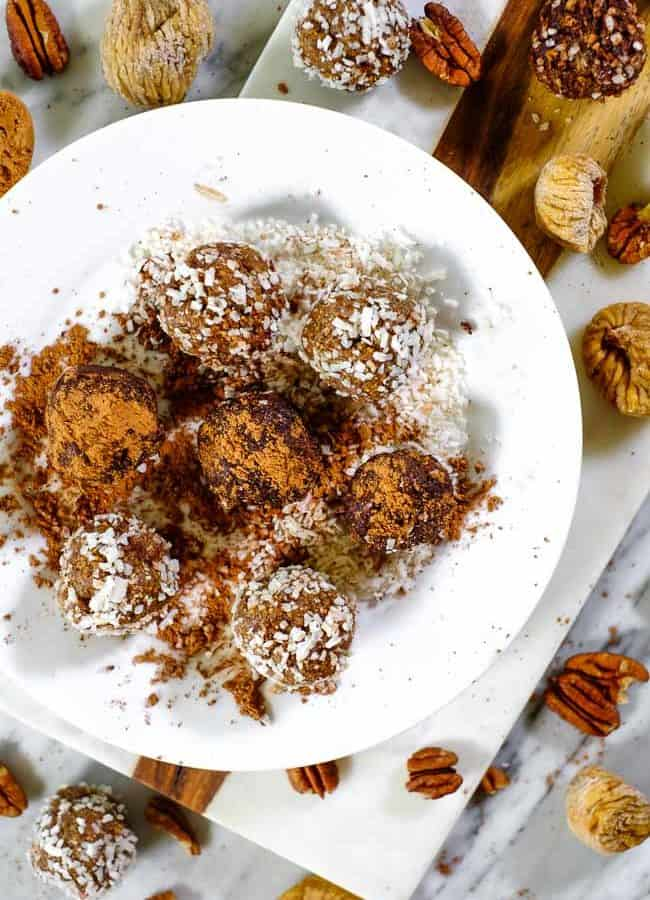 Fig + Date Bliss Balls (Paleo + Whole30)