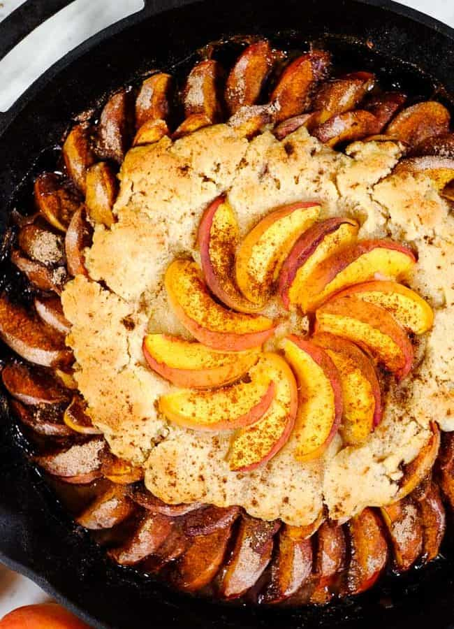 Gluten Free Peach Cobbler (Paleo, Dairy-Free + Refined Sugar-Free)