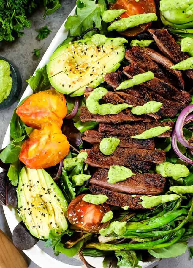 Grilled Steak Salad (Paleo + Whole30)