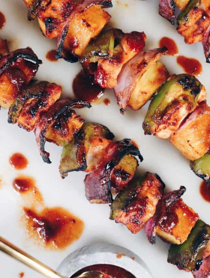 Hawaiian Chicken Kabobs (Paleo, Gluten-Free, Soy-Free + Refined Sugar-Free)