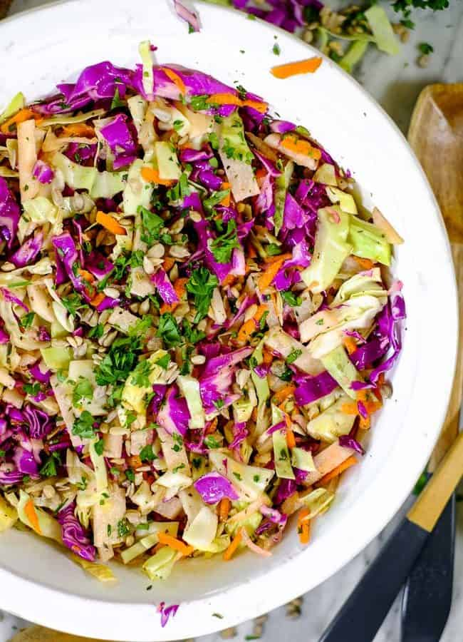 Healthy Coleslaw Recipe (Paleo + Whole30) No Mayo