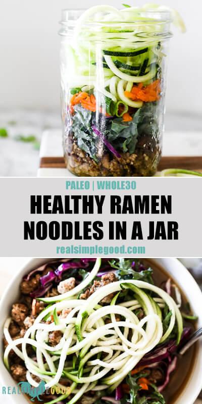 healthy ramen noodles in a jar paleo  whole30  the