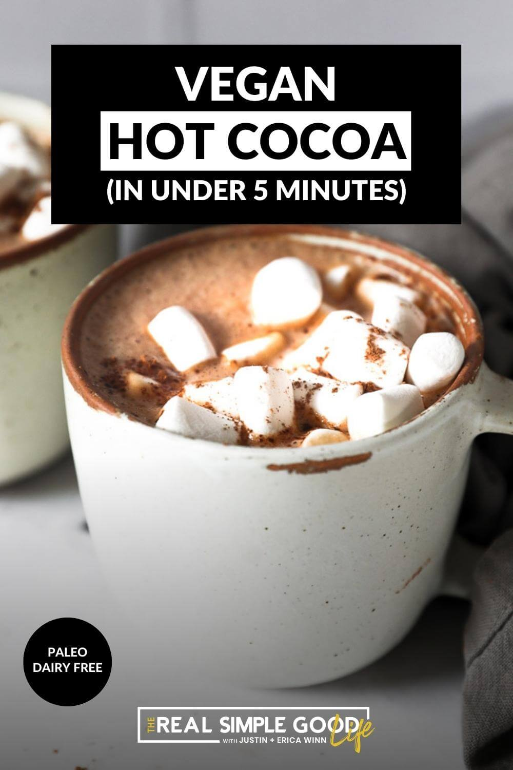 Homemade Vegan Hot Chocolate (with a boost of protein)