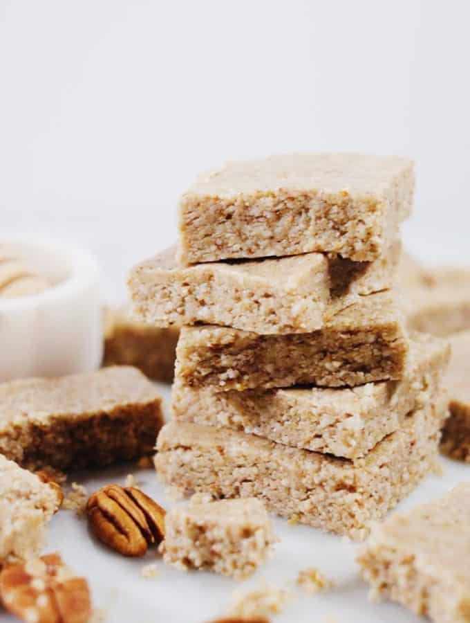 Clean and Easy No Bake Honey Nut Bars (Paleo, GF + Refined Sugar-Free)