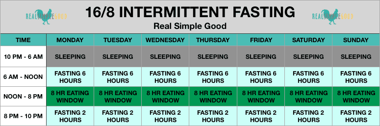 16-8 Intermittent fasting spreadsheet - my intermittent fasting results