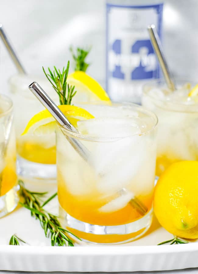 Lemon & Rosemary Cocktail (Refined Sugar-Free)