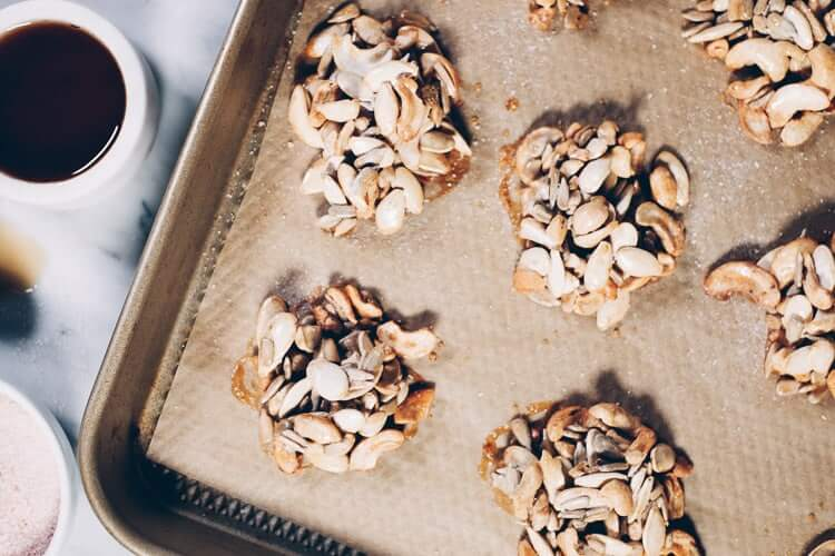 My favorite combo is always salty and sweet. That must be why I love these Paleo Maple Vanilla Clusters. They've got the perfect amount of salty, sweet goodness and they're refined sugar-free. #paleo #paleotreats #refinedsugarfree #cleantreats   realsimplegood.com