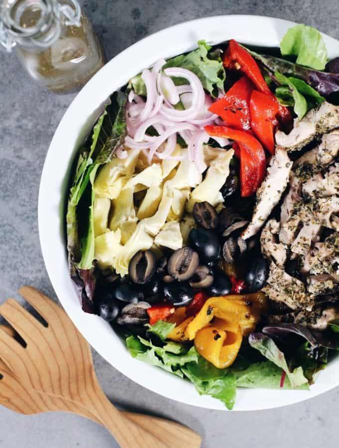 Mediterranean Chicken Salad (Paleo + Whole30)