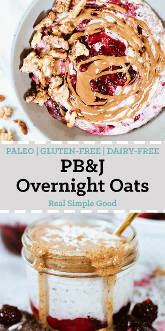 """PB"" and jelly healthy overnight oats long pinterest image"