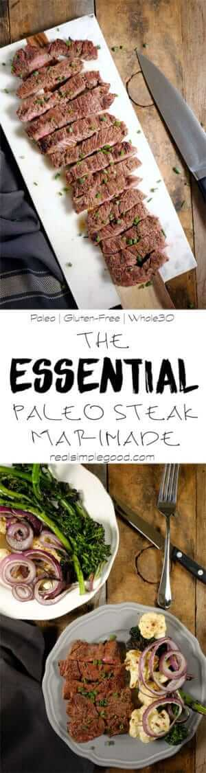 This Whole30 + Paleo steak marinade takes only 5 minutes to put together and is a flavorful marinade that you can use over and over. Only 8 ingredients! Paleo, Gluten-Free and Whole30.   realsimplegood.com