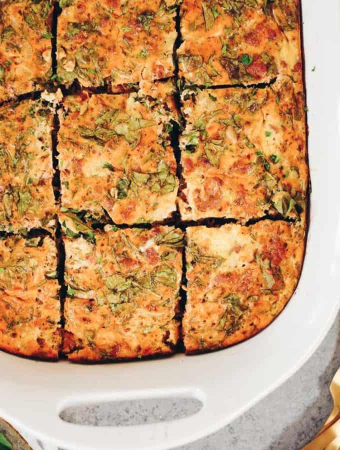 Paleo Breakfast Pizza Casserole (Whole30 + Dairy-Optional)