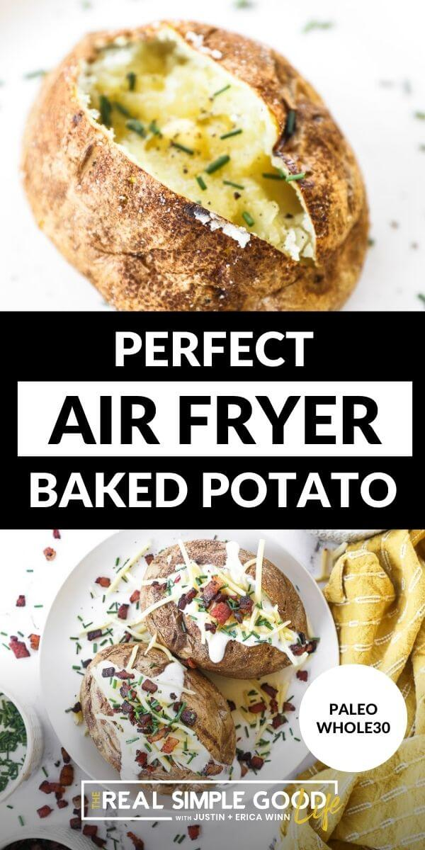 Perfect Air Fryer Baked Potatoes