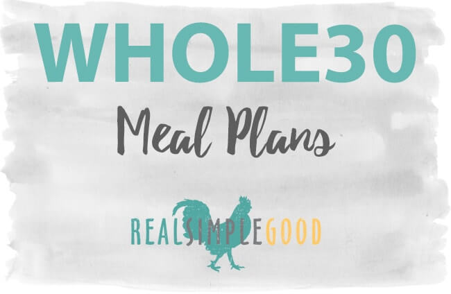 Whole30 Meal plans image with text