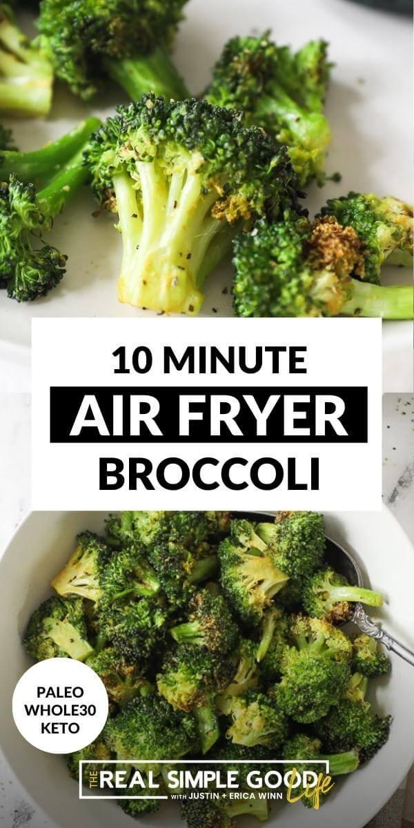 Tender Crisp Air Fryer Broccoli in 10 Minutes