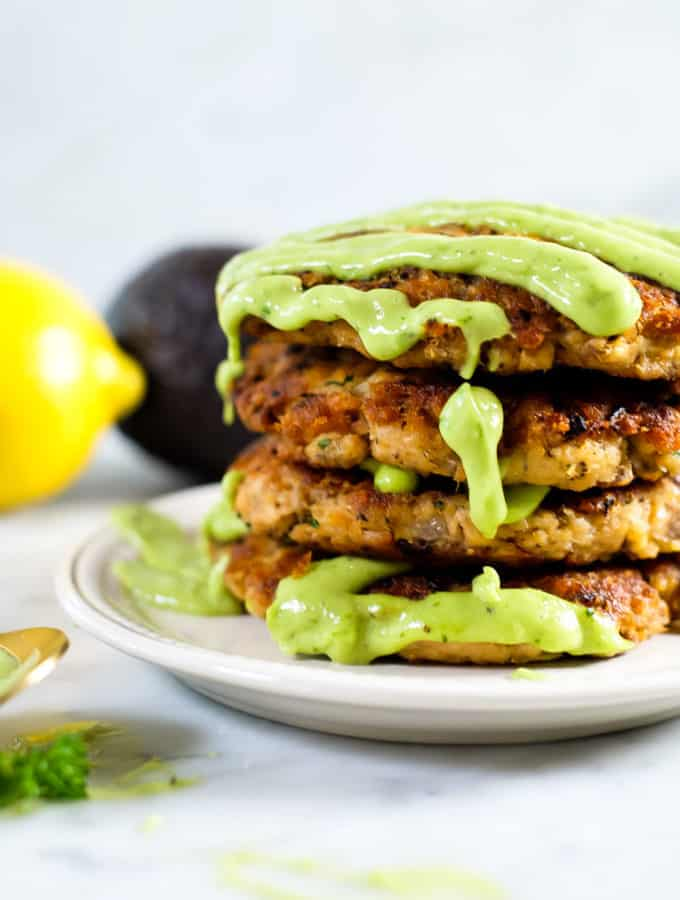 The Best Salmon Patties with Magic Green Sauce (Paleo + Whole30)