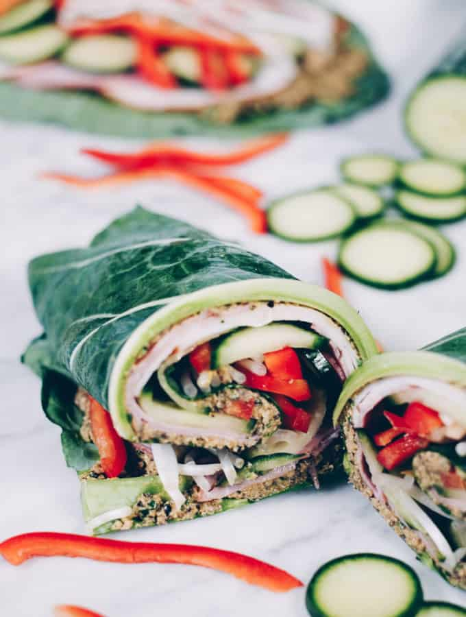 Collard Green Wraps (Paleo + Whole30 Option)